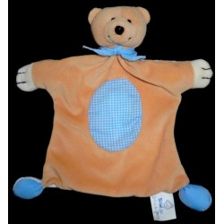 Doudou Ours BAWI Plat Beige