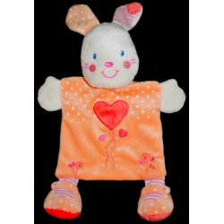 Doudou Lapin KIABI Plat Orange